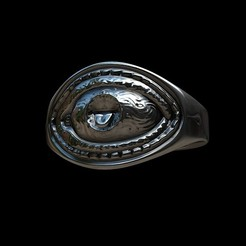 3D file Grimace eye ring, MWopus