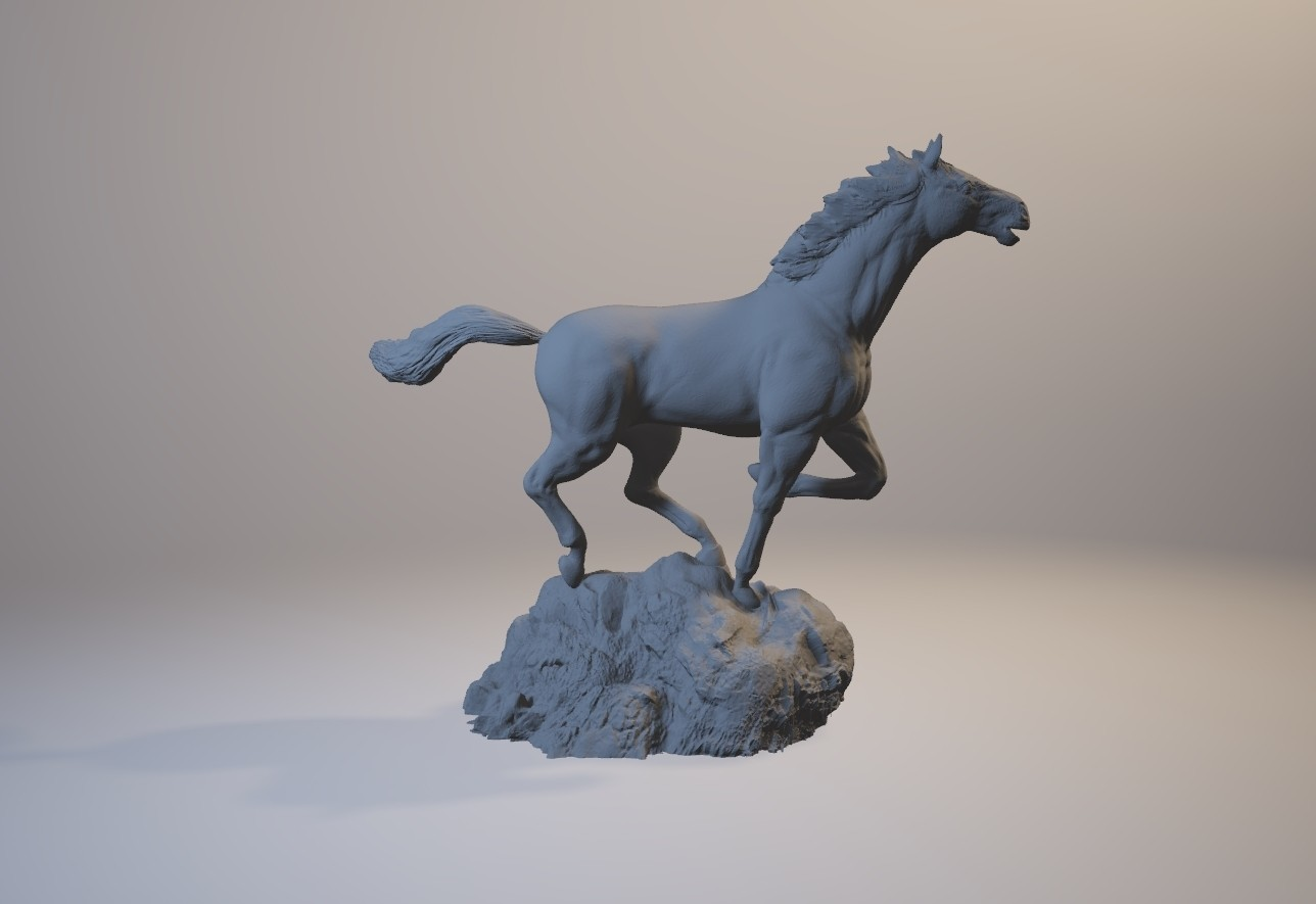horse_3dprint06.jpg Download STL file God Speed • 3D printer template, MWopus