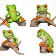 Download STL file Tree Frog • 3D print template, MWopus