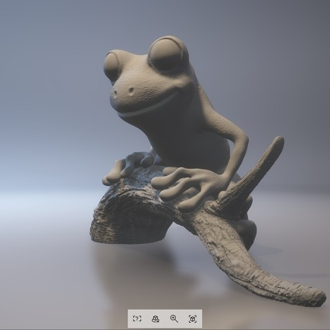 treeFrog_0303_print_stl.stl - View 3D20170731-004017.jpg Download STL file Tree Frog • 3D print template, MWopus