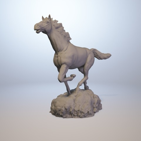 horse_3dprint09.jpg Download STL file God Speed • 3D printer template, MWopus
