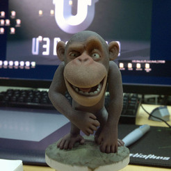 Chimpanzee 3D printer file, MWopus