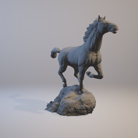 horse_3dprint07.jpg Download STL file God Speed • 3D printer template, MWopus