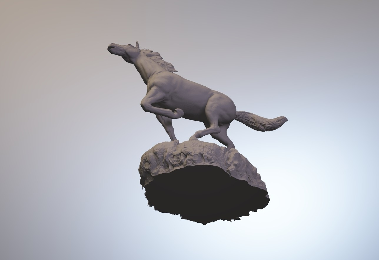 horse_3dprint12.jpg Download STL file God Speed • 3D printer template, MWopus