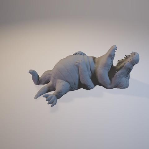 1601_Crocodile05.jpg Download STL file I'm stuffed • 3D printer design, MWopus