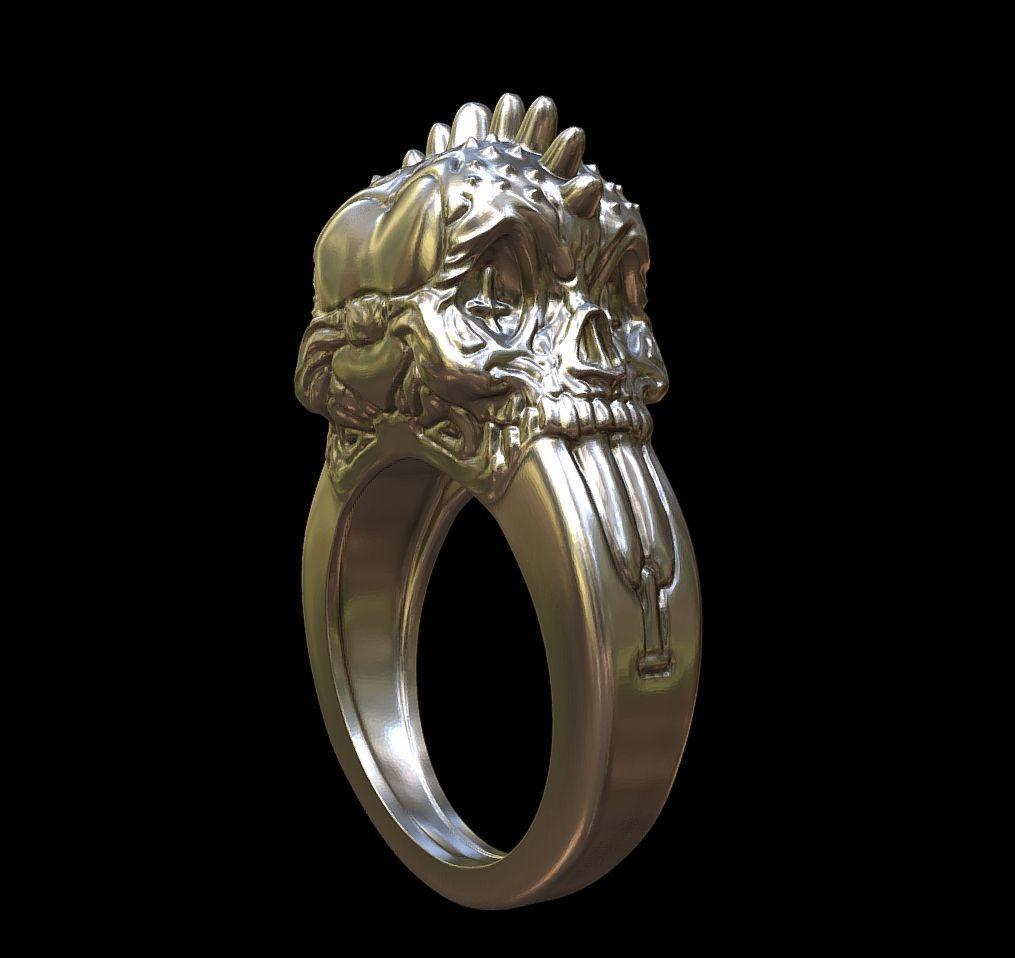 Punk rings by mwopus - 3D model - Sketchfab20180119-005873.jpg Download STL file Punk rings • 3D printable template, MWopus