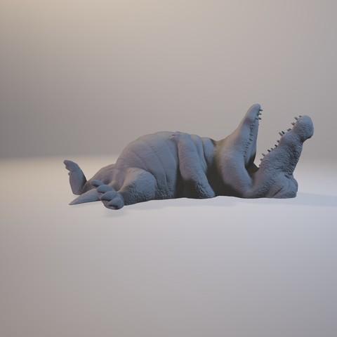 1601_Crocodile09.jpg Download STL file I'm stuffed • 3D printer design, MWopus