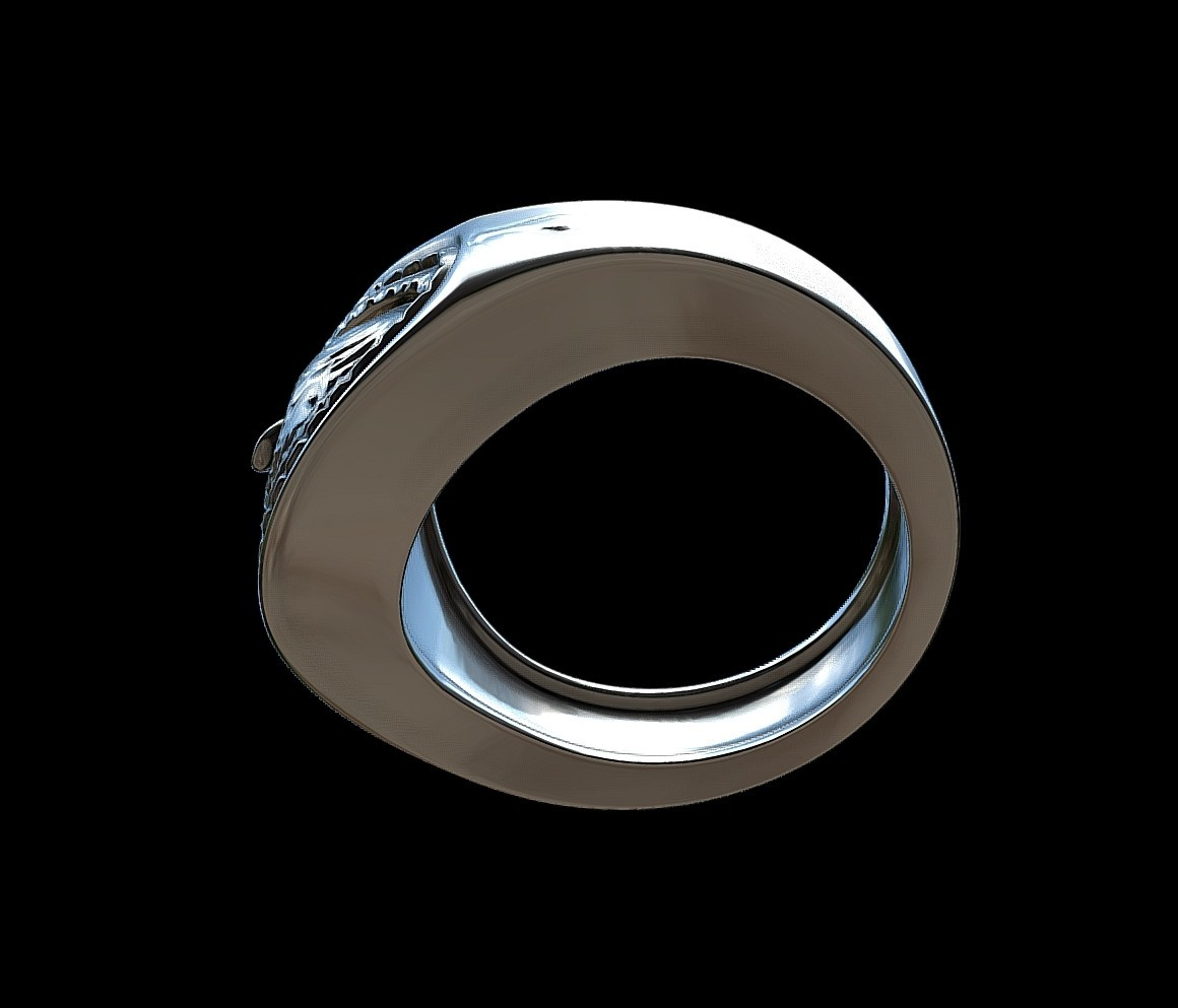 Grimace eye ring by mwopus - 3D model - Sketchfab20180119-005888.jpg Download STL file Grimace eye ring • 3D print object, MWopus