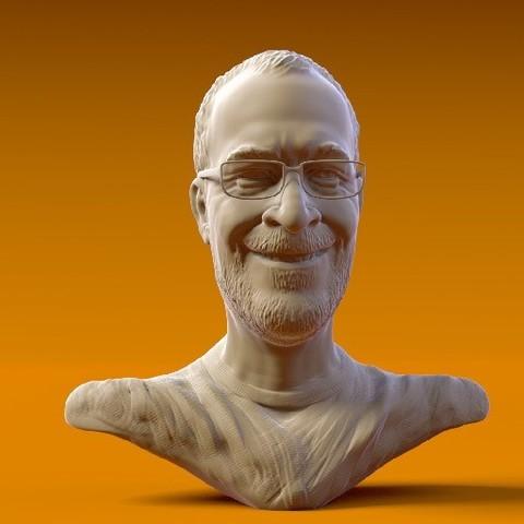 Ton Roosendaal512x512.jpg Download OBJ file Ton Roosendaal • Design to 3D print, MWopus