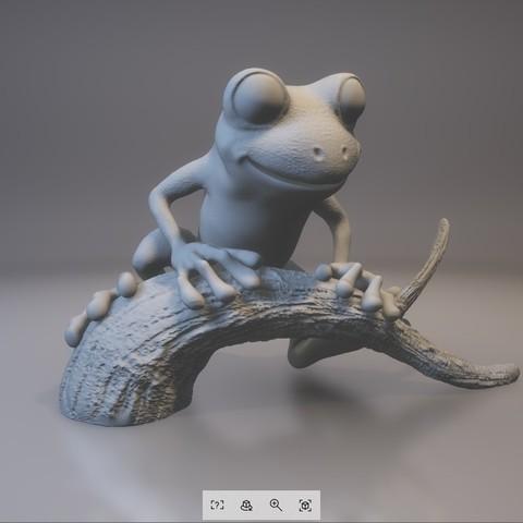 treeFrog_0303_print_stl.stl - View 3D20170731-004016.jpg Download STL file Tree Frog • 3D print template, MWopus