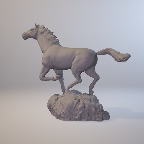 horse_3dprint02.jpg Download STL file God Speed • 3D printer template, MWopus