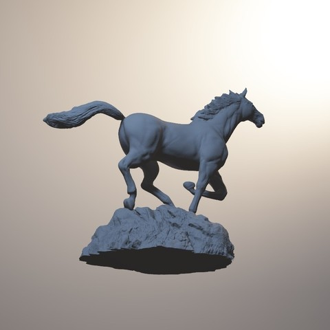 horse_3dprint13.jpg Download STL file God Speed • 3D printer template, MWopus