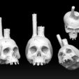 skull_candle.jpg Download STL file Skull Candle • 3D printable object, MWopus