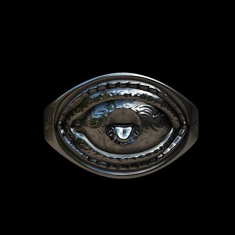 Grimace eye ring by mwopus - 3D model - Sketchfab20180119-005889.jpg Download STL file Grimace eye ring • 3D print object, MWopus