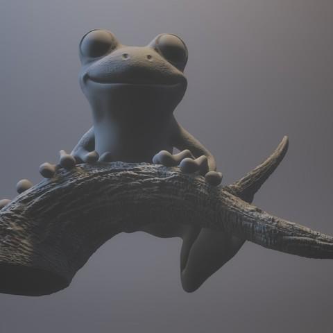 treeFrog_0303_print_stl.stl - View 3D20170731-004020.jpg Download STL file Tree Frog • 3D print template, MWopus