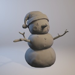 Download 3D printer templates Snowman, MWopus