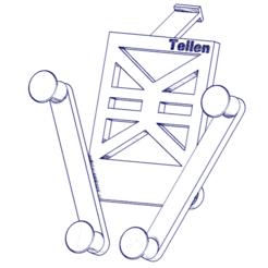 Télécharger fichier impression 3D Support telephone voiture, Tellen