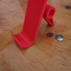 IMG_20200502_163933.jpg Download STL file Adjustable phone holder / Phone holder • 3D print template, Tellen