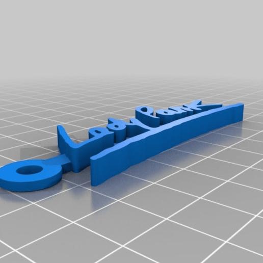 0256b0f5f6dc6e78a3607e4a134f9f7a.png Télécharger fichier STL gratuit Porte-clés avec logo Lady Pank • Plan pour imprimante 3D, mcko