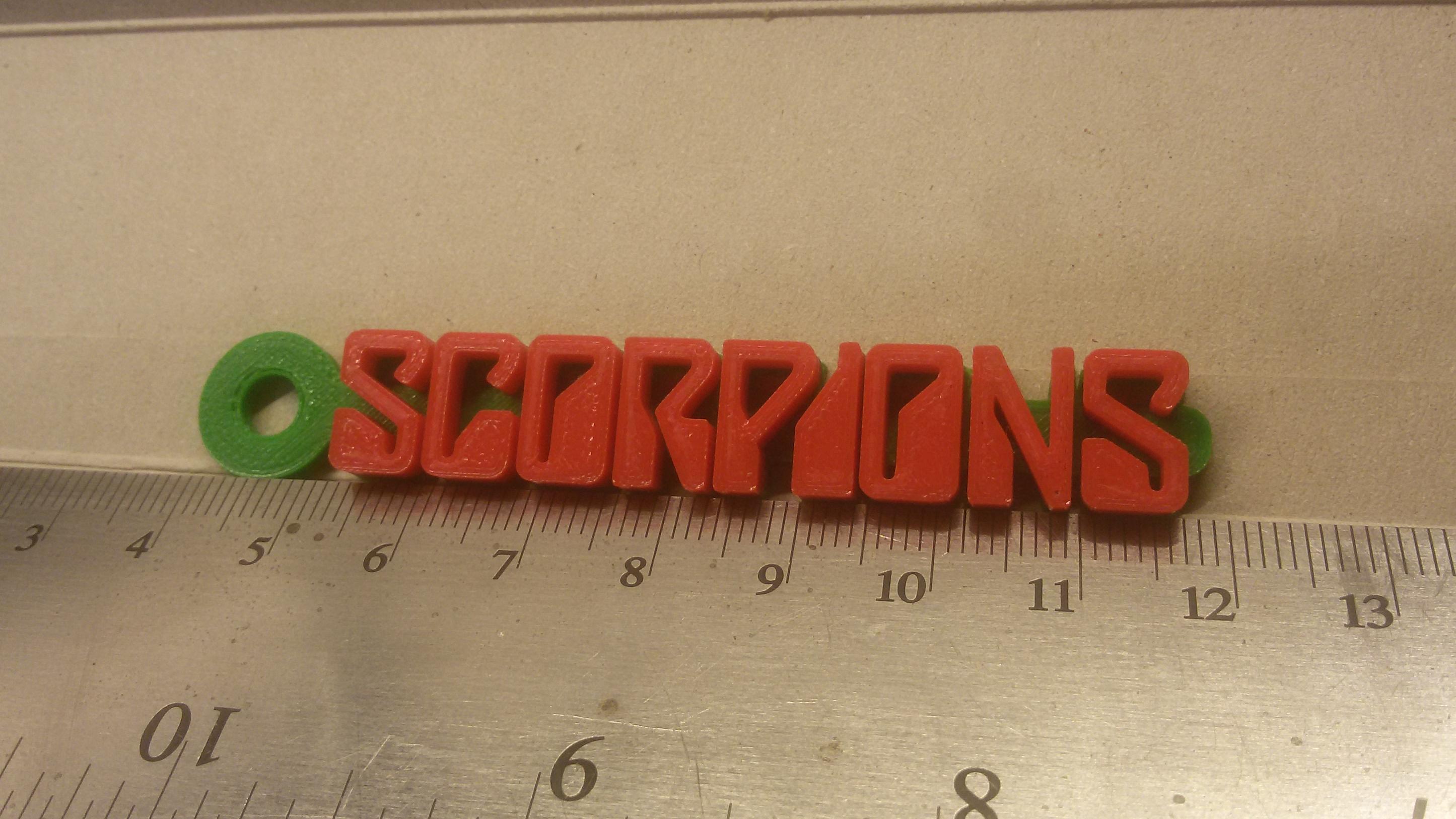 20180908_230740.jpg Télécharger fichier STL gratuit Porte-clés avec le logo Scorpions • Design imprimable en 3D, mcko
