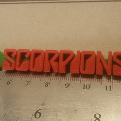 Download free 3D printer templates Scorpions Logo Keychain, mcko