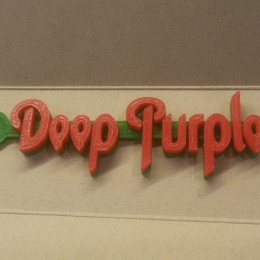 20180908_230532.jpg Download free STL file Deep Purple Logo Keychain • 3D printable model, mcko