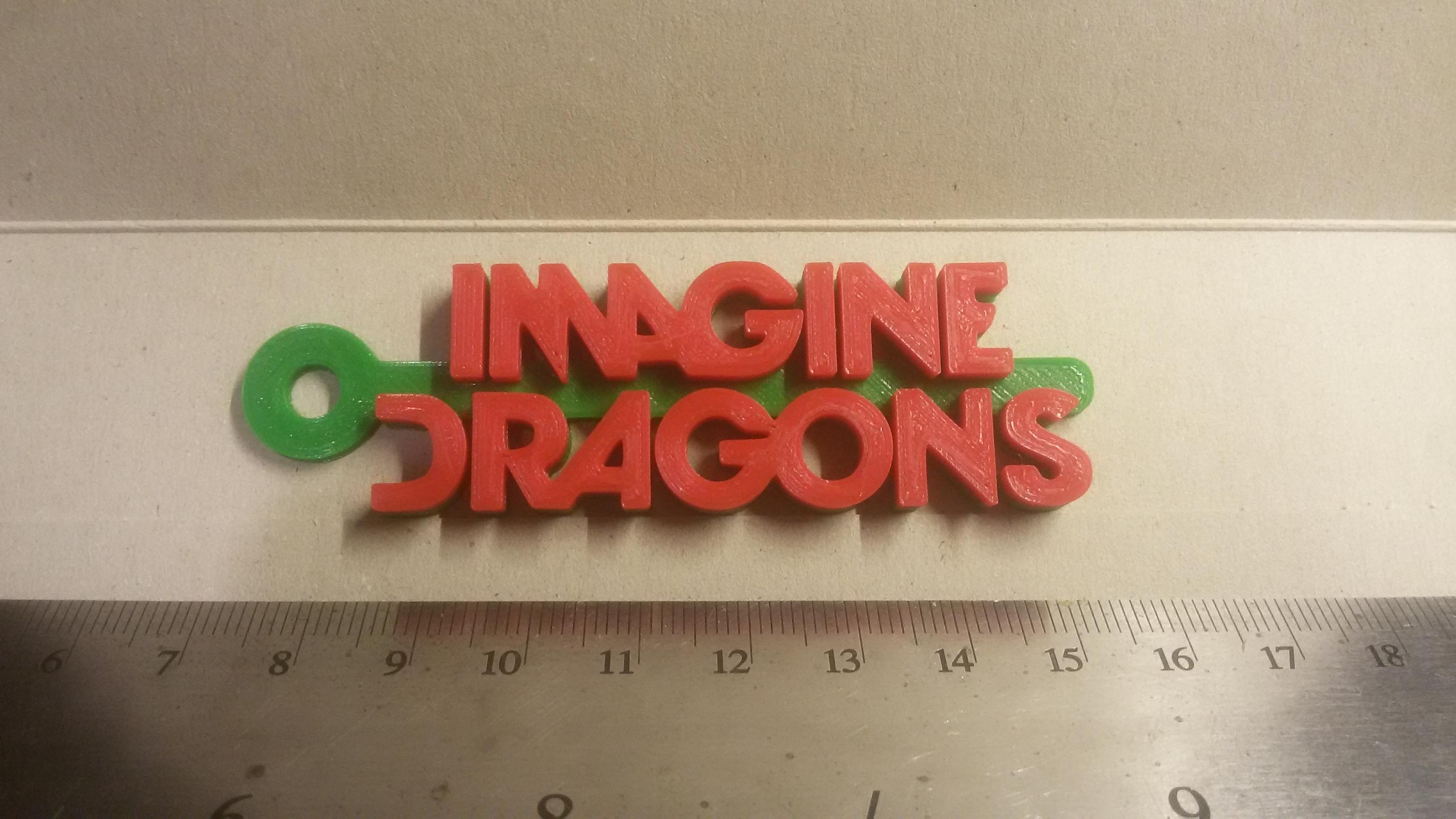 20180908_233428.jpg Download free STL file Imagine Dragons Logo Keychain • 3D print design, mcko