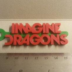 Download free 3D printer designs Imagine Dragons Logo Keychain, mcko