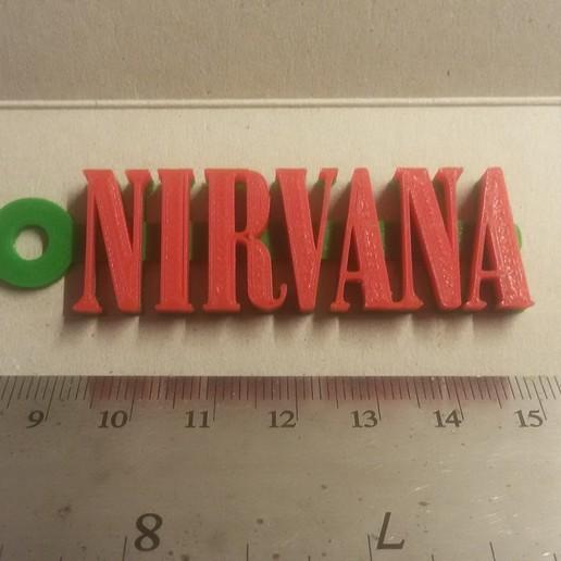 20180908_233521.jpg Télécharger fichier STL gratuit Porte-clés avec logo Nirvana • Design pour impression 3D, mcko