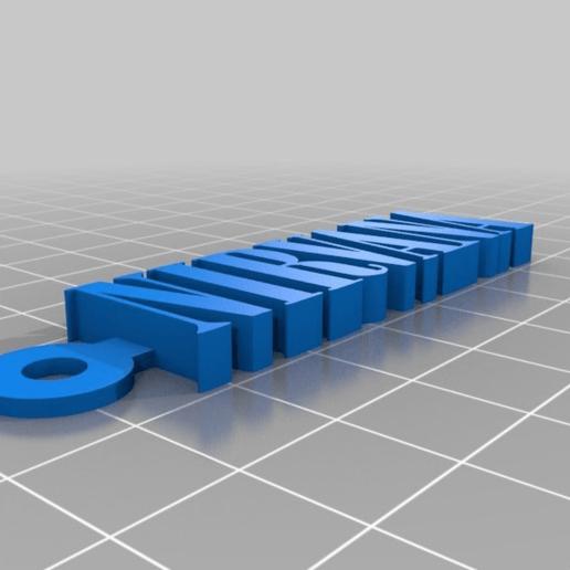a5d031e8409378ccf750709d9ef809eb.png Télécharger fichier STL gratuit Porte-clés avec logo Nirvana • Design pour impression 3D, mcko