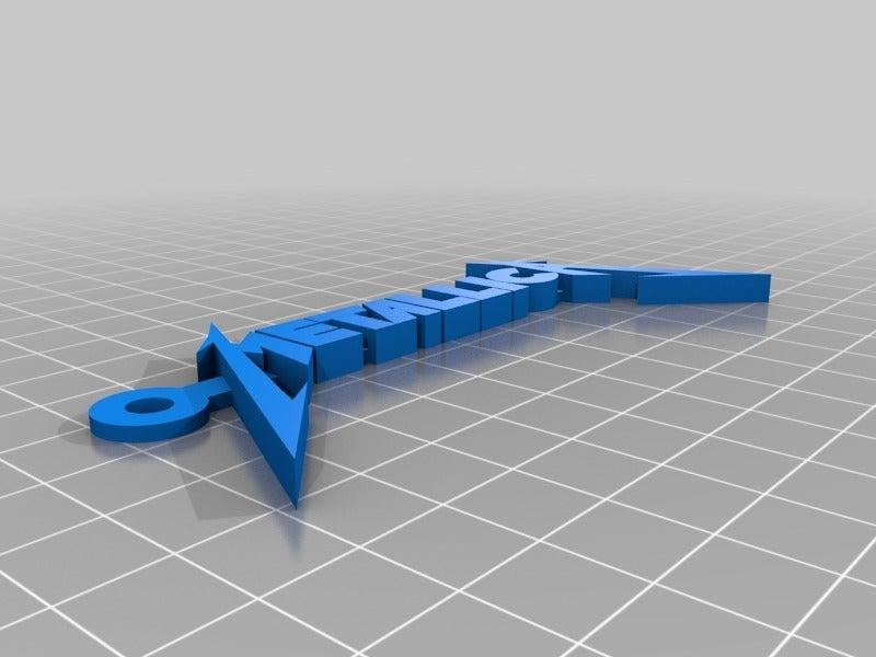 5b08d9e42e81ff010b5f66539a137427.png Download free STL file Metallica Logo Keychain • 3D print design, mcko