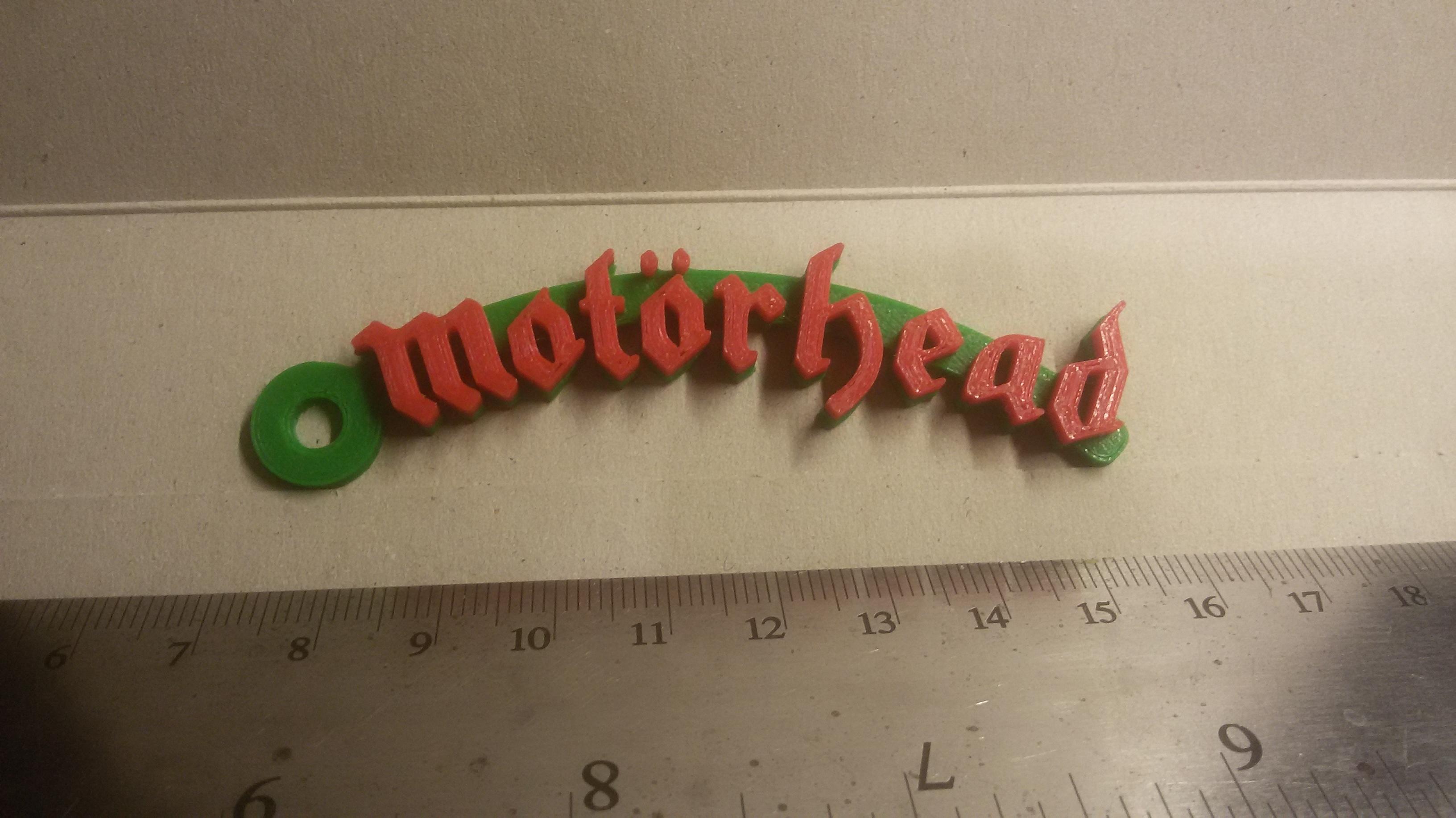 20180908_233342.jpg Download free STL file Motorhead Logo Keychain • 3D printable design, mcko