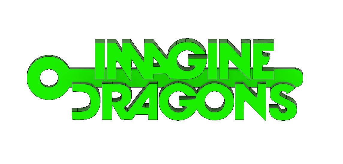 Screenshot_4.png Download free STL file Imagine Dragons Logo Keychain • 3D print design, mcko