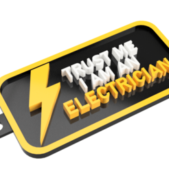 Screenshot_21.png Download STL file Keychain TRUST ME I AM AN ELECTRICIAN • Design to 3D print, mcko