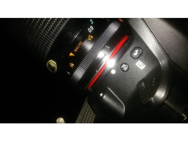 0bba71b9f6486a430289f9af6b0f1078_preview_featured.jpg Download STL file Adaptall2-NikonF camera adapter • 3D printing object, mcko