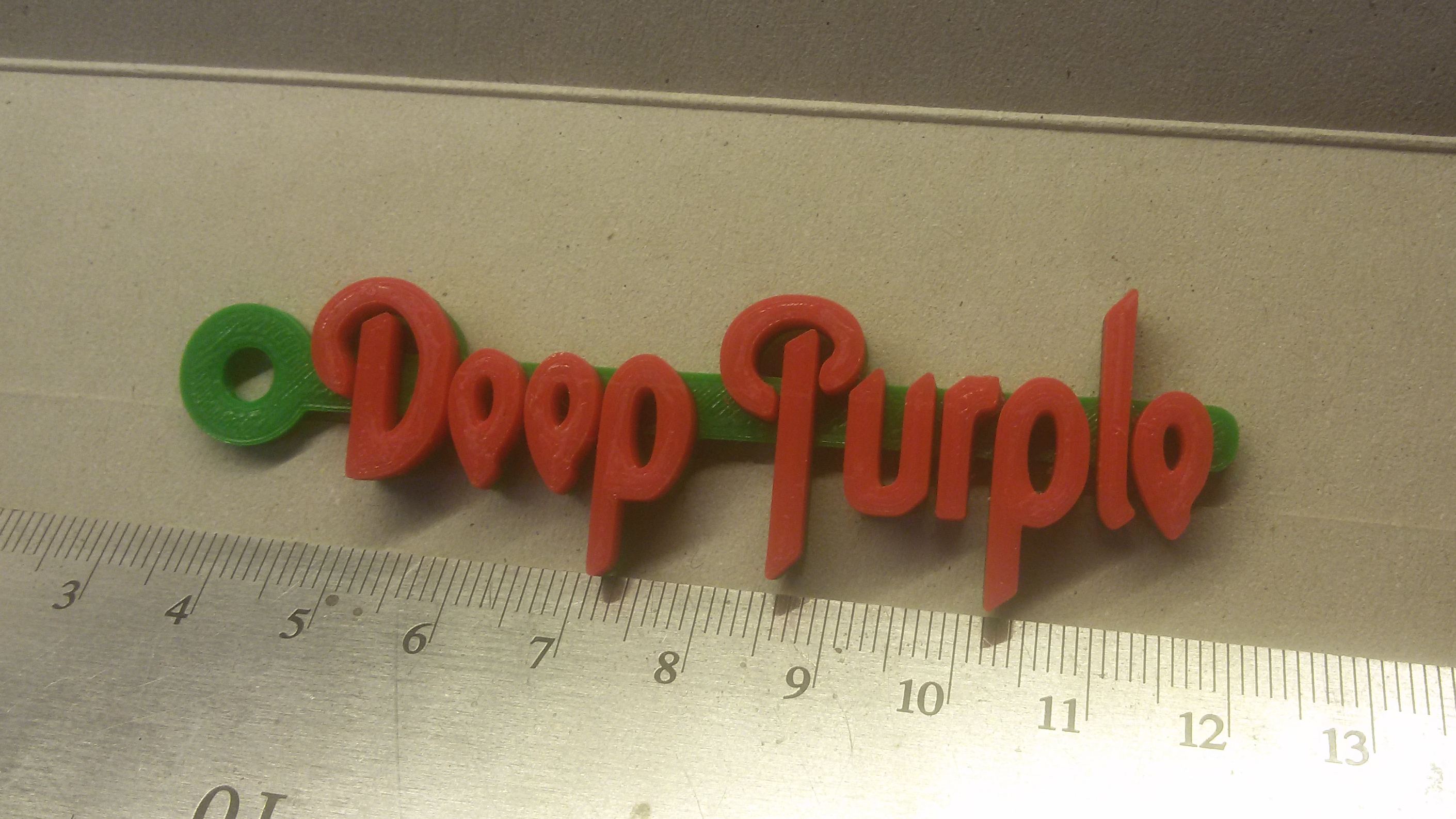 20180908_230612.jpg Download free STL file Deep Purple Logo Keychain • 3D printable model, mcko