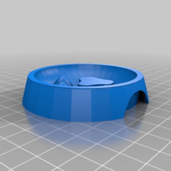 Download free 3D printing templates Cat Slow Feeder Bowl, bluecat93