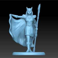 Download free 3D print files Female Tiefling Mage Miniature, bluecat93