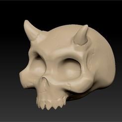 Descargar diseños 3D Cráneo de demonio, bluecat93