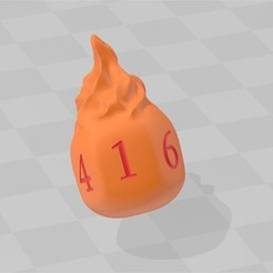 WhatsApp Image 2020-02-16 at 02.09.06.jpeg Download STL file Fireball d6 Dice • 3D printing template, bluecat93