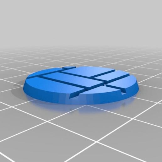 Download free 3D print files 28mm brick base, bluecat93