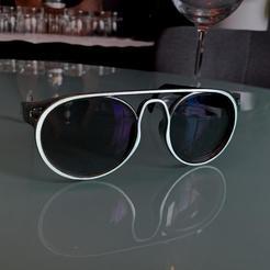01.jpg Download STL file Eye Glasses - model B2 • 3D printer template, Criscris