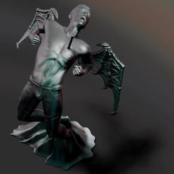 00.JPG Télécharger fichier STL L'ange qui tombe • Design pour impression 3D, Criscris