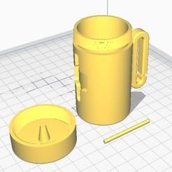 Sin título.jpg Download STL file DOG BAG HOLDER V2.0 • 3D printing template, therobber95