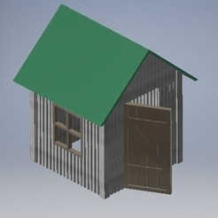Download STL file SMALL STEEL SHED H0 SCALE • 3D printable object, therobber95