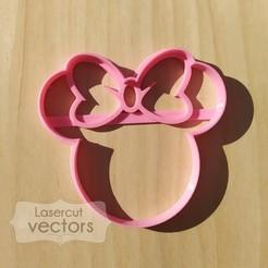 MINNIE.jpg Download STL file Minnie cookie cutter. Minnie cookie cutter. Disney cookie cutter • 3D print object, LasercutVectors