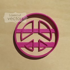 paz.jpg Download STL file peace sign cookie cutter. Peace sign cookie cutter • 3D printable object, LasercutVectors