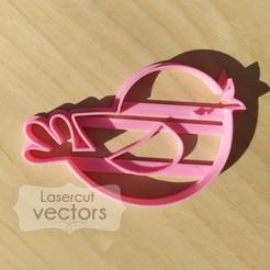 PAJARO.jpg Download STL file Bird cookie cutter. Bird cutter. Bird cutter • 3D printing model, LasercutVectors