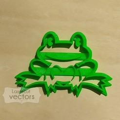 rana.jpg Download STL file frog cookie cutter, cutter. Frog cookie cutter. frog cookie cutter, baby shower • 3D printing model, LasercutVectors