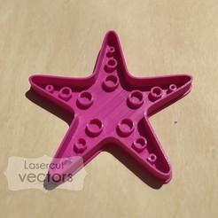 estrella mar.jpg Download STL file cookie cutter, cutter. Starfish cookie cutter. Starfish Cookie Cutter • Template to 3D print, LasercutVectors